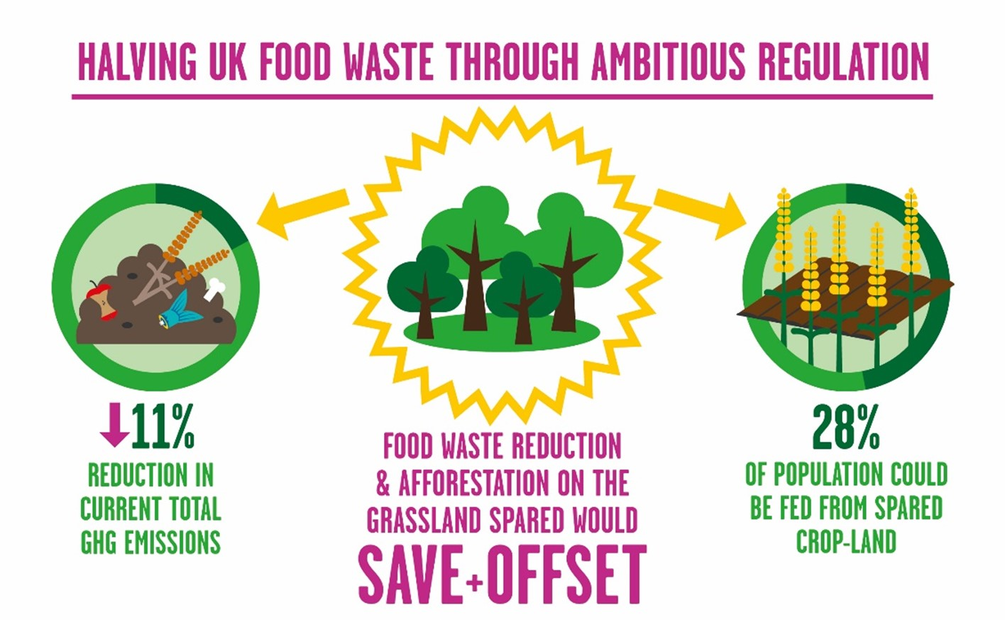 Figure: Halving food waste through ambitious regulation.