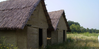 Image: Kelly Reed, Reconstructed Neolithic house at Sopot, Croatia