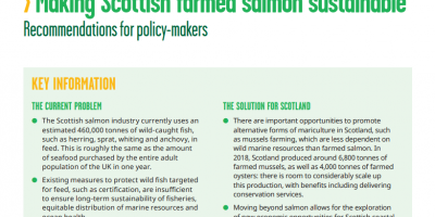 Making Scottish farmed salmon sustainable report cover