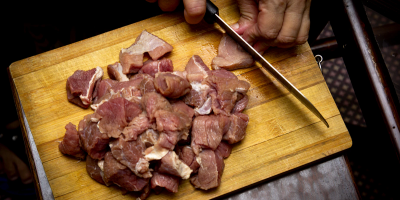 Image: Usman Yousaf, Sliced meat on brown wooden chopping board, Unsplash, Unsplash Licence