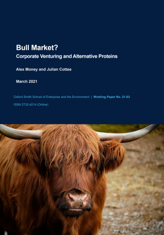 Bull market? Corporate venturing and alternative proteins